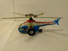 Vintage Helicopter #705 Wind Up Tin Toy Made In China t3331