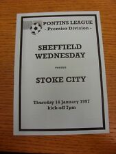 16/01/1997 Sheffield Wednesday riserve V Stoke City RESERVES (4 pagine, Blu).