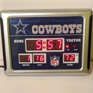 Dallas Cowboys Scoreboard Clock for Wall or Table