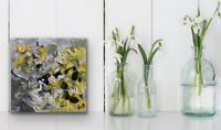 """6x6"""" Mini Abstract Artwork Modern Painting Gifts yellow Free Ship- Forever 1"""