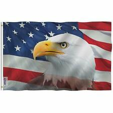 ANLEY Fly Breeze 3x5 Ft US Bald Eagle Decorative Flag Double Stitched Polyester