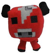 """Baby Red Mooshroom 7"""" Minecraft Soft Plush Animal Toy"""
