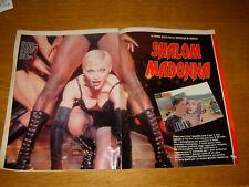 MADONNA clipping articolo fotografia photo 1993 AV3 ISRAELE SHALOM