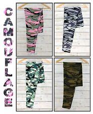 Women's Camouflage Leggings Pink, Green, Grey Camo