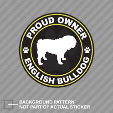 Proud Owner English Bulldog Sticker Decal Vinyl dog canine pet