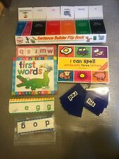 Lot of Phonics Reading Spell cards Sentence Builder Flip Book Magnetic First Wor
