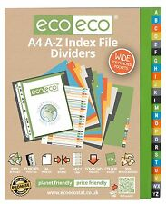 A TO Z A4 EXTRA WIDE INDEX FILE FOLDER PLASTIC SUBJECT DIVIDERS A TO Z ALPHABET