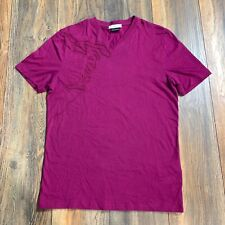 Auth Versace Collection Medusa Head Purple Embroidery Mens T-Shirt Size M Fits S