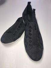 Coach Black Signature Sneakers Shoes Slip Ons Women's Size 11