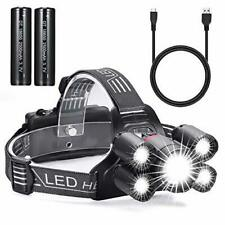 LED Focus Head Light Rechargeable Headlamp Running Camping Waterproof Torch