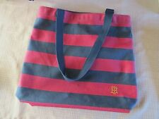 Tommy  Hilfiger Canvas Tote Striped Beach Bag - Red & Blue