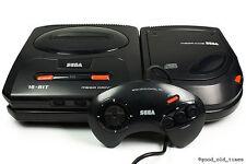 ## SEGA Mega-CD 2 Konsole + Mega Drive 2 + Pad + Strom- & TV-Kabel ##
