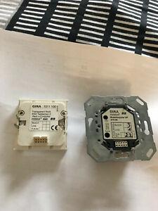5xGira 101100, KNX Tastsensor 2 .1 fach mit Busankoppler 057000..ohne Controller