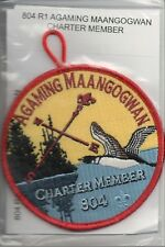 Lodge 804 Agaming Maangogwan R-1 Charter Member OA patch