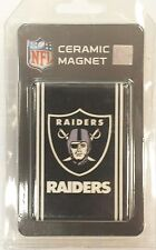 OAKLAND RAIDERS NFL Boelter Brands Black & White Ceramic Refrigerator Magnet