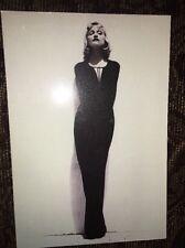 Madonna Evita Thin Pose Postcard Classic Boy Toy Black White Glamour Gown Madge