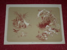JULES CHERET / LITHOGRAPHIE ORIGINALE [Imp. CHAIX] MENU BERALDI Ca 1895