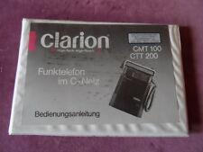Bedienungsanleitung Clarion CMt 100 Ctt 200 Anleitung für Funktelefon