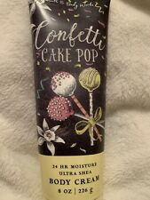 Bath And Body Works Confetti Cake Pop Body Cream Lotion