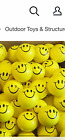 """30 SMILEY FACE STRESS RELIEF BALLS 2"""" FOAM HAND THERAPY SQUEEZE TOY BALL"""