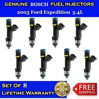 8x OEM BOSCH Fuel Injectors for 2003 Ford Expedition 5.4L  #0280158138