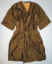Vintage 50s Gold Lame Terry Cloth Robe L Beach Swim Rockabilly Cabana Jacket