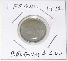 Nice 1972 BELGIAN 1 FRANC COIN #1 (Ungraded)