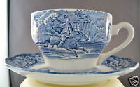 Liberty Blue Historic Colonial Cup & Saucer Set Old North Church Made In England