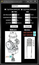 Rotax Dellorto VHSB 34 Jetting Software for Rotax Max, Mini ,Junior, DD2 125 cc