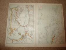 VECCHIO MAPPE Africa occidentale, mappa coloniale ~ Polinesia ~ da Universal ATLAS 1893