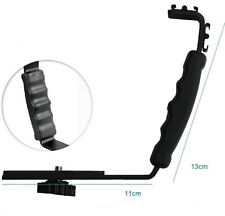 L Flash Bracket Mount 2 Hot Shoe For Camcorder Mic Microphone Video Light Camera
