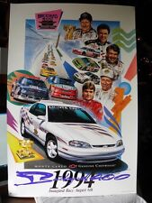 Monte Carlo Chevy Brickyard 400 1994 Poster SIGNED BY ARTIST *VERY RARE* FASTSHP