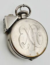 Antique EXPO Secret Pocket Watch Shaped Spy Miniature Camera w/ Rare View Finder