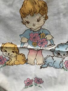 Vintage Embroidered Vogart Baby Crib Cover