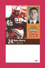 NATE GERRY 2017 SENIOR BOWL RC NEBRASKA CORNHUSKERS HUSKERS PHILADELPHIA EAGLES