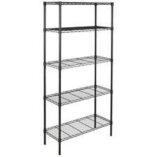 5 Tier Garage Storage Metal Rack Shelving Shelves Unit Standing Space Save