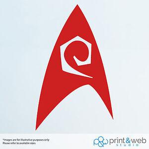 Star Trek Federation Wall Decal Logo Van Laptop Vinyl Sticker Engineer