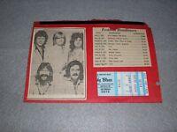 Moody Blues Concert Ticket Stub November 1978 Buffalo NY Octave Tour
