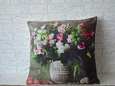 Kissenhülle, Kissenbezug, Dekokissen, Fotodruck Blumenstrauß 40x40 cm