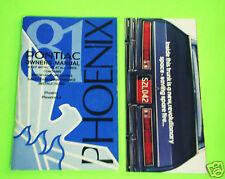 1981 Pontiac Phoenix Owners Manual Owner's Guide Book