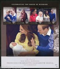 NEVER BEFORE OFFERED PALAU 2015 BIRTH OF PRINCESS CHARLOTTE SHT WITH DIANA IMF
