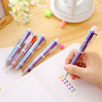 Multicolor Ballpoint Pen 6 In1 Colorful Ball Point-Pens School Office Stationery