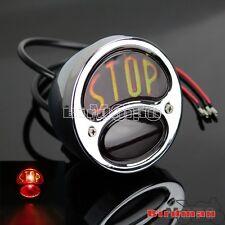 Chrome Motorcycle Tail Light Stop Brake 12V Lamp Cafe Racer Cruiser Motorbike