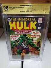 IMMORTAL HULK #33 NM/M 9.8⛓️Signed Al Ewing⛓️Incredible Hulk 1 Homage⛓️CBCS cgc