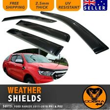WEATHER SHIELDS fit FORD RANGER PX1 PX2 PX3 WEATHERSHIELDS 2011-19 WINDOW VISORS