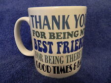 BEST FRIEND THANK YOU TEXT PRINTED MUG GIFT FREE P&P