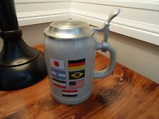 """GERMAN STEIN MADE IN GERMANY BY GERZ  6 """" TALL F IVA world cup (5)"""