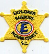 PICKENS COUNTY SOUTH CAROLINA SC star shaped EXPLORER SHERIFF POLICE PATCH