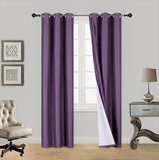2PC Insulated Lined Foam Blackout Bronze Grommet Window Curtain Panels A72