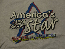 AMERICA'S NEXT GREAT STAR T-Shirt Talent Casting Call FREE Shipping size Medium